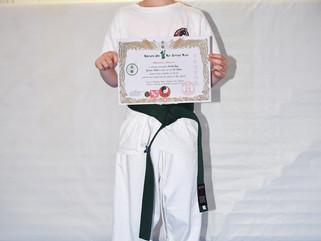 Rhiannon grades to green belt