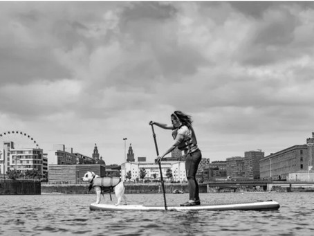 A Conversation with Jayne Rigby of Liverpool SUP Co, SUP Fitness + with a Pup + Plastic Pollution