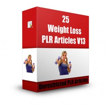 25 Weight Loss PLR Articles V 13