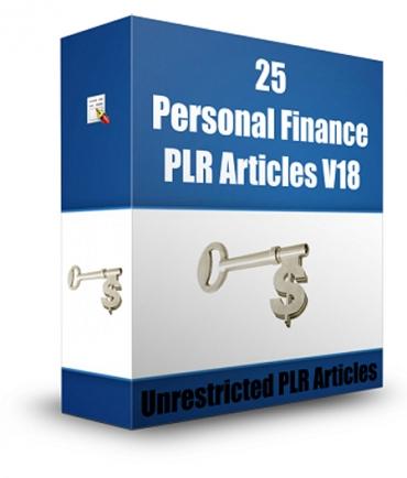 25 Personal Finance PLR Articles V 18