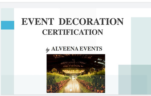 Event Decoration Certification