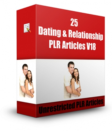 25 Dating And Relationship PLR Articles V 18