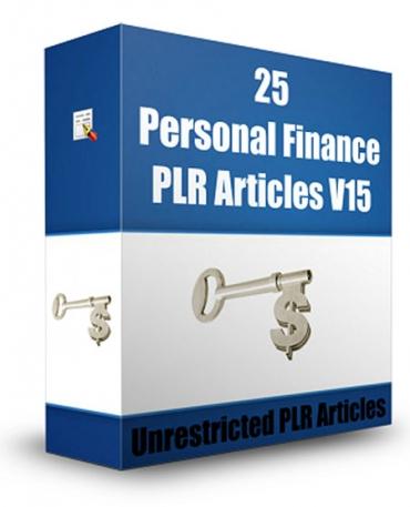 25 Personal Finance PLR Articles V 15