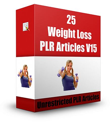 25 Weight Loss PLR Articles V 15