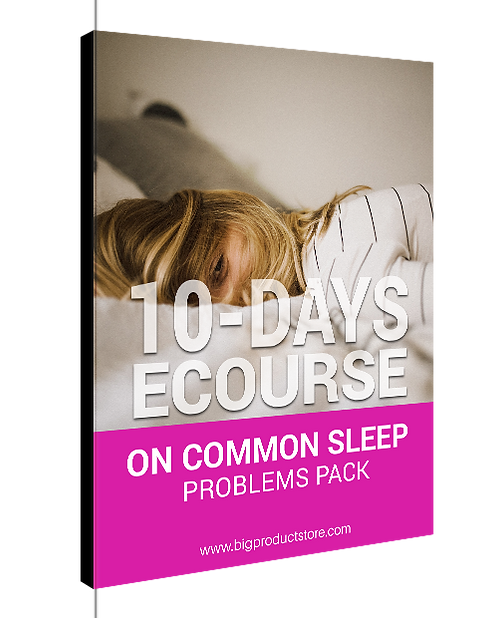 10 Days Ecourse On Common Sleep Problems Pack