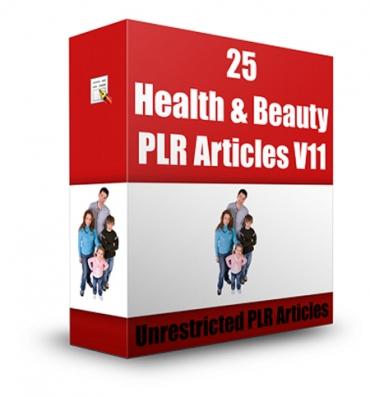 25 Health & Beauty Articles V 11