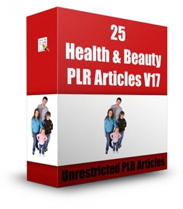 25 Health & Beauty PLR Articles V 17