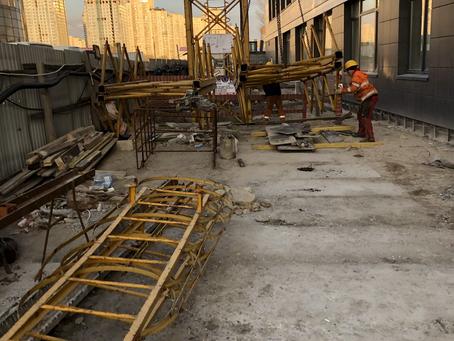Монтаж секций башни крана (наращивание). Башенный кран GC Peiner System МК 160.