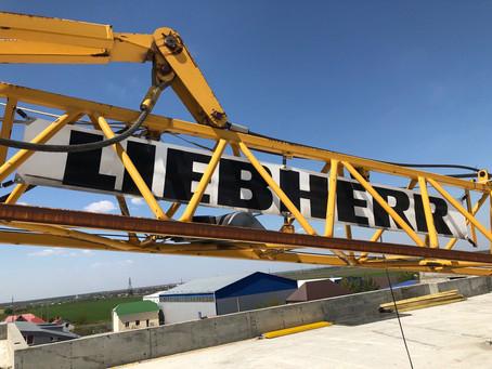 Демонтаж башенного самомонтируемого крана Liebherr 35K