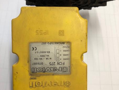 Приборы безопасности башенного крана GC Италия модель МК. Концевой выключатель поворота стрелы крана