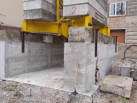 Установка крестообразного основания под башенный кран Liebherr 71EC