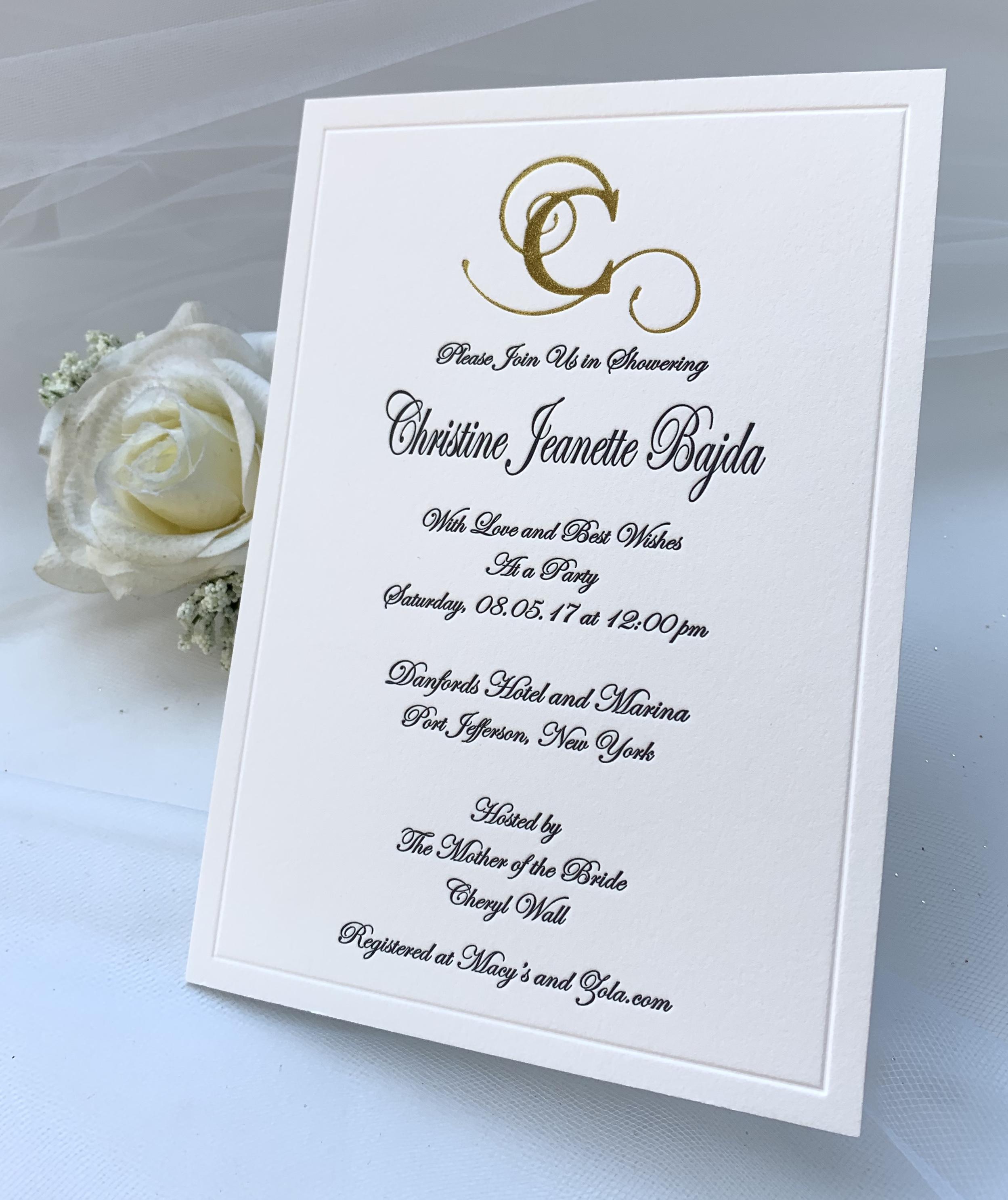 wedding invites in NYC