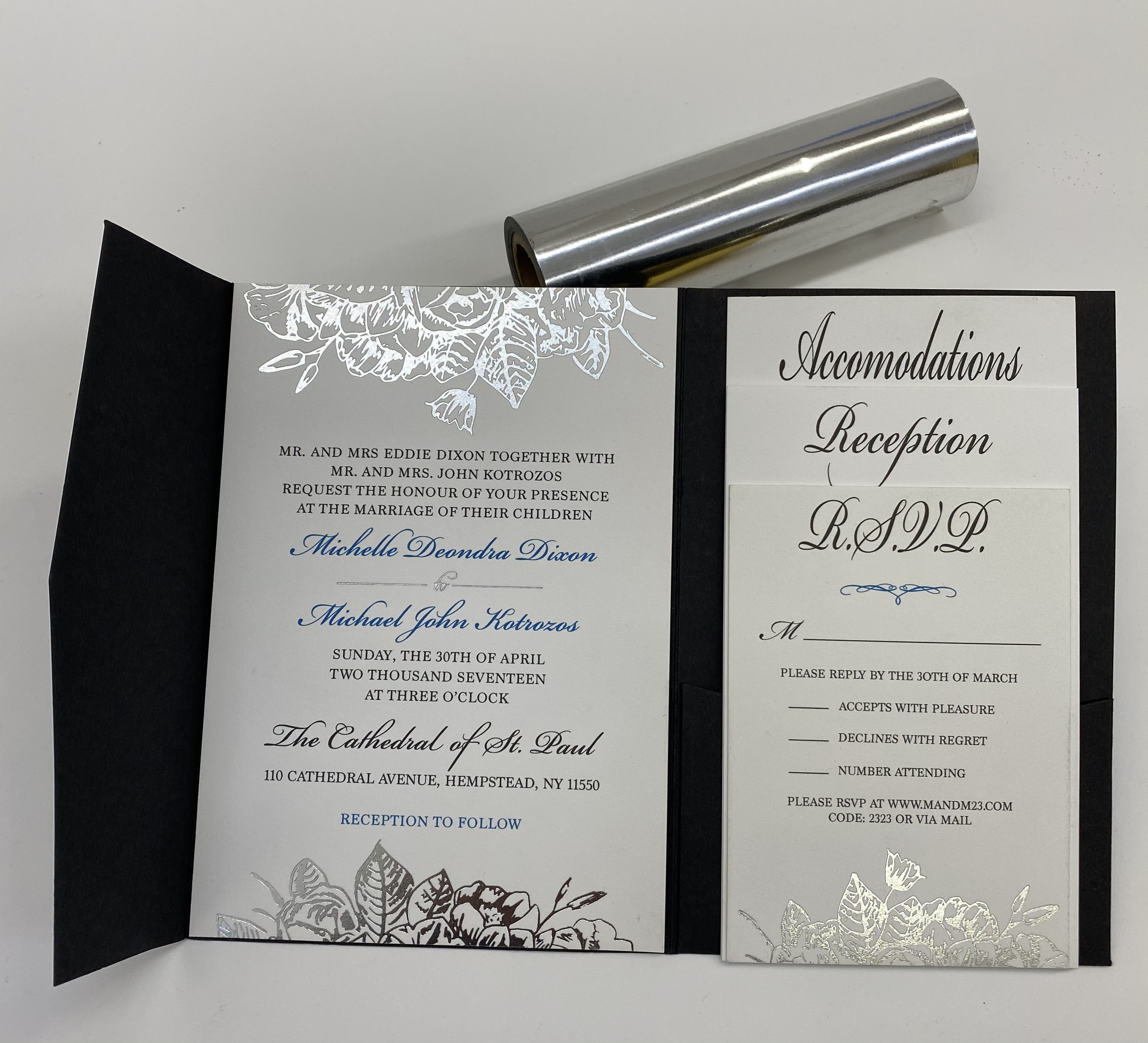any color wedding invitations in NYC
