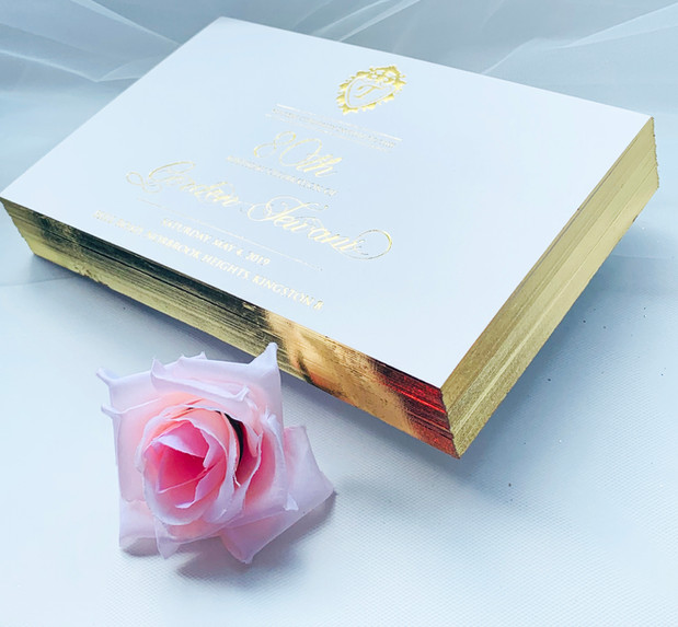 Foil stamping Invitations