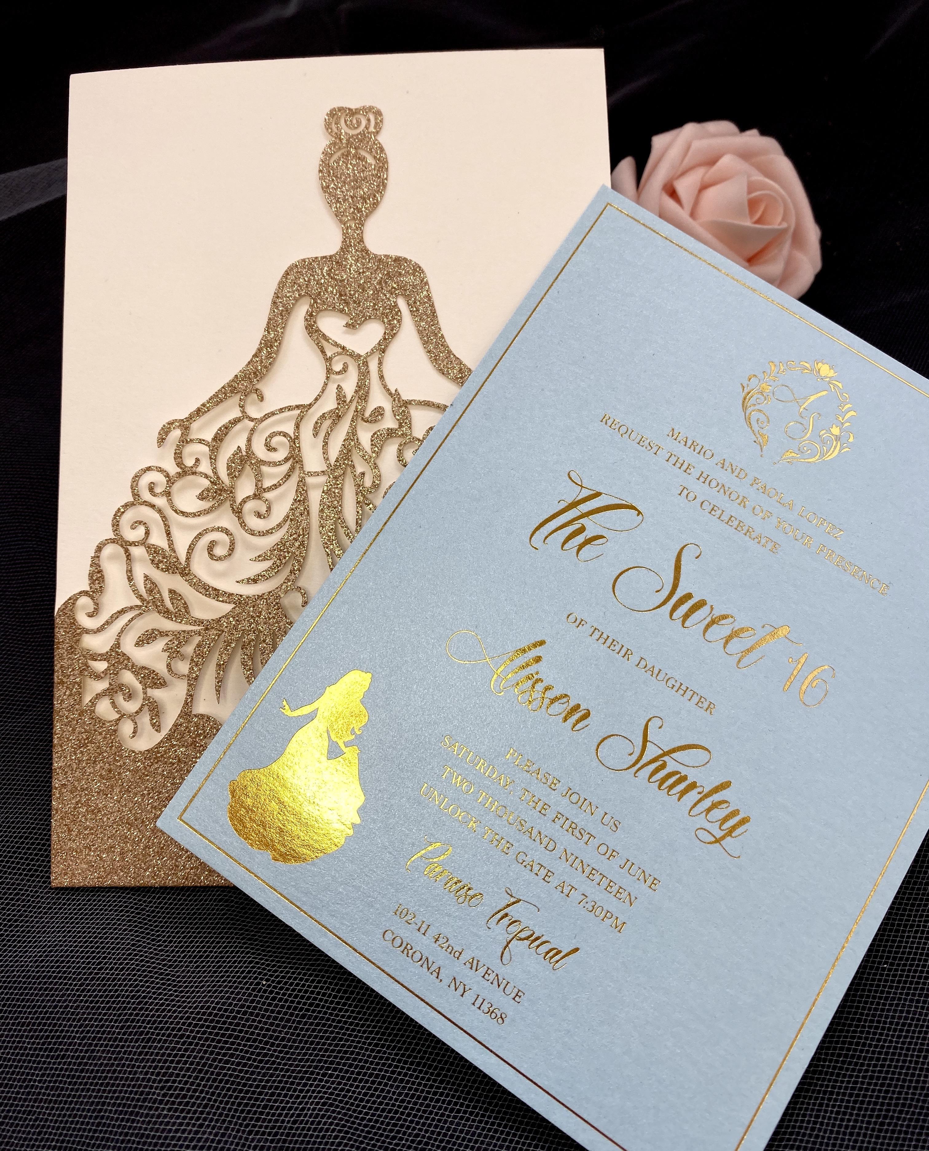 sweet 16 custom invitations in NYC