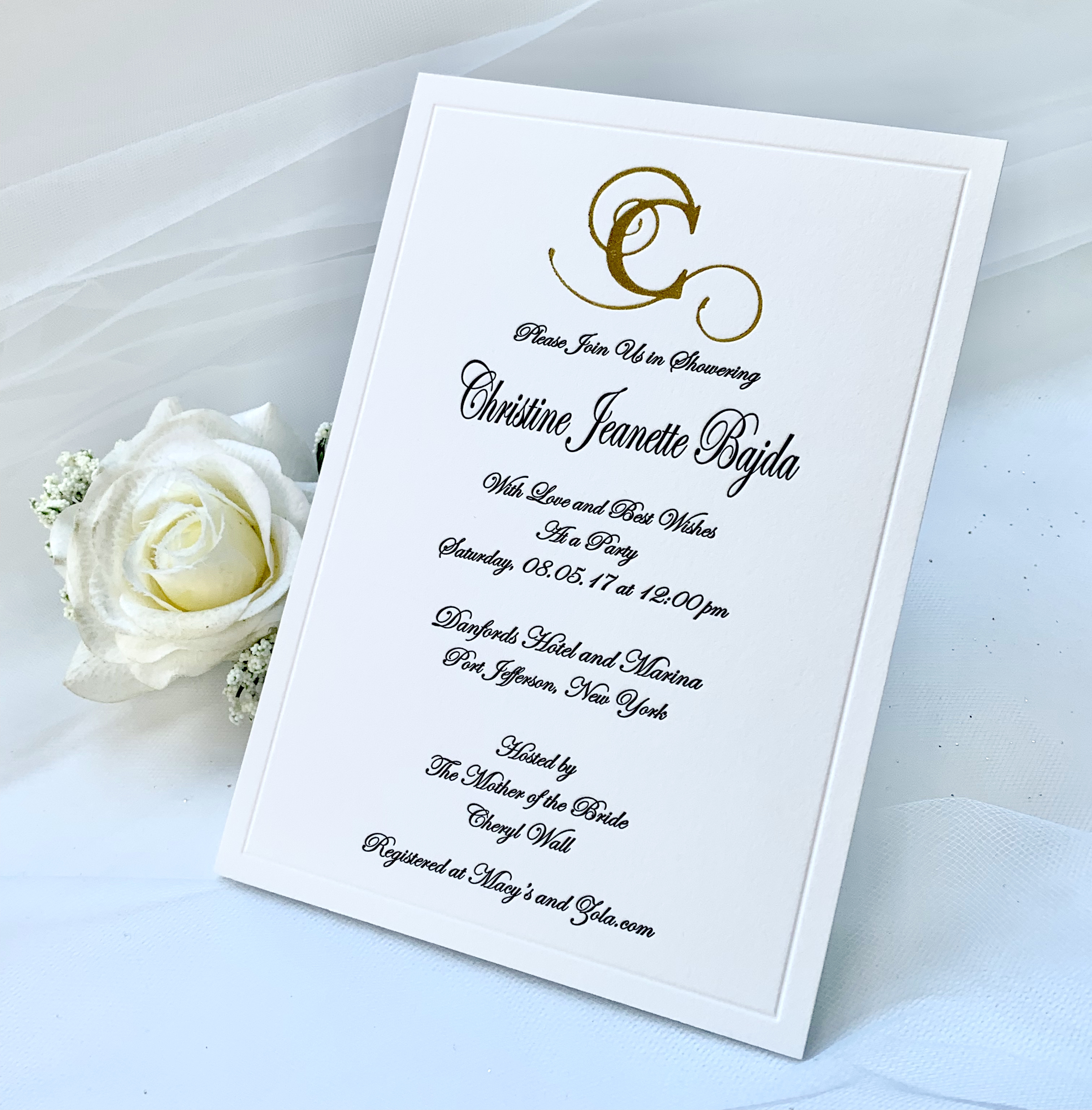 foil stamping invitation in NYC 2 2