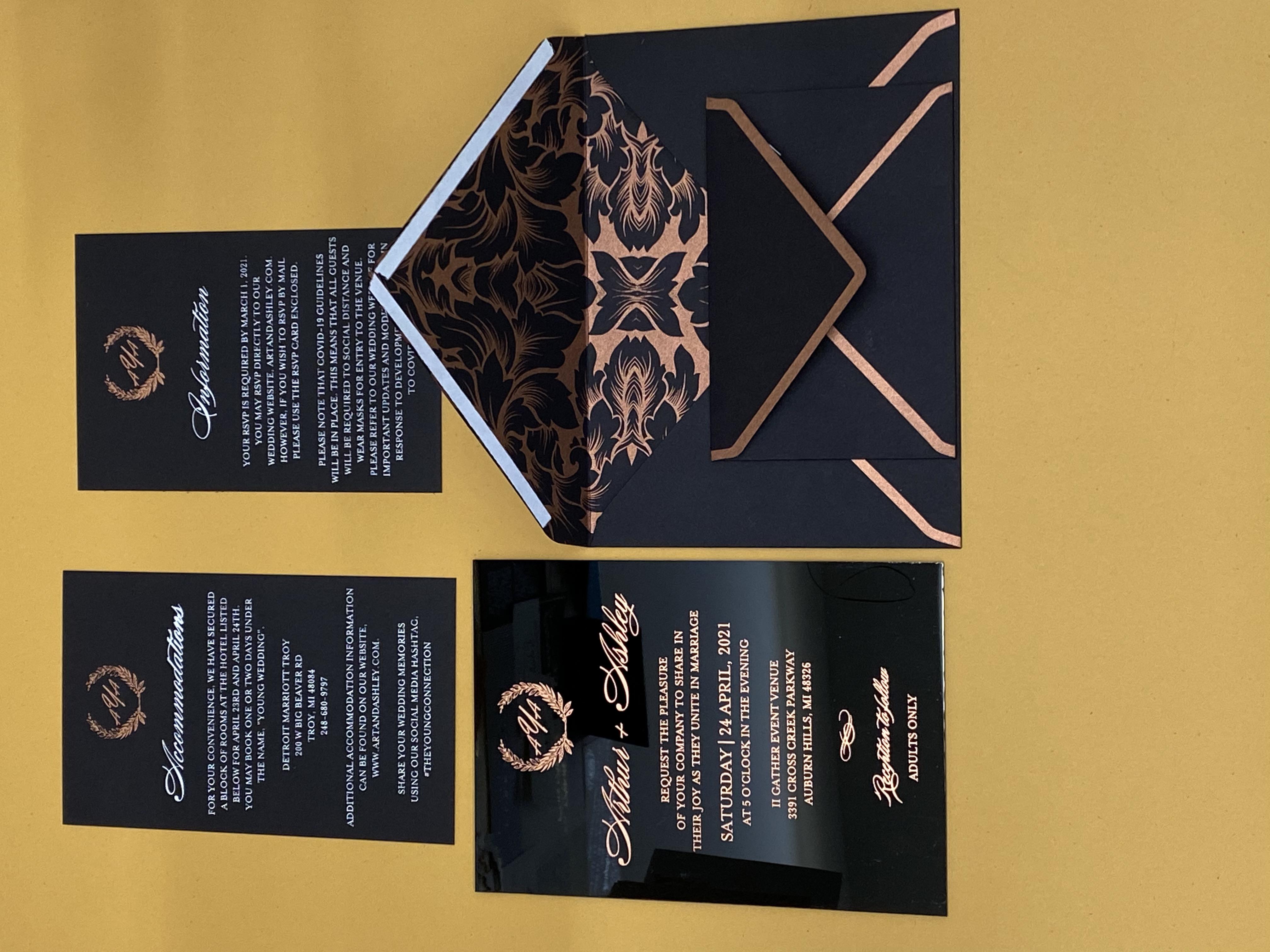 acrylic wedding invitations in NYC