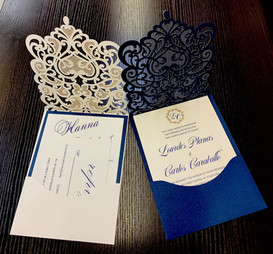 custom laser cut wedding invitations NY