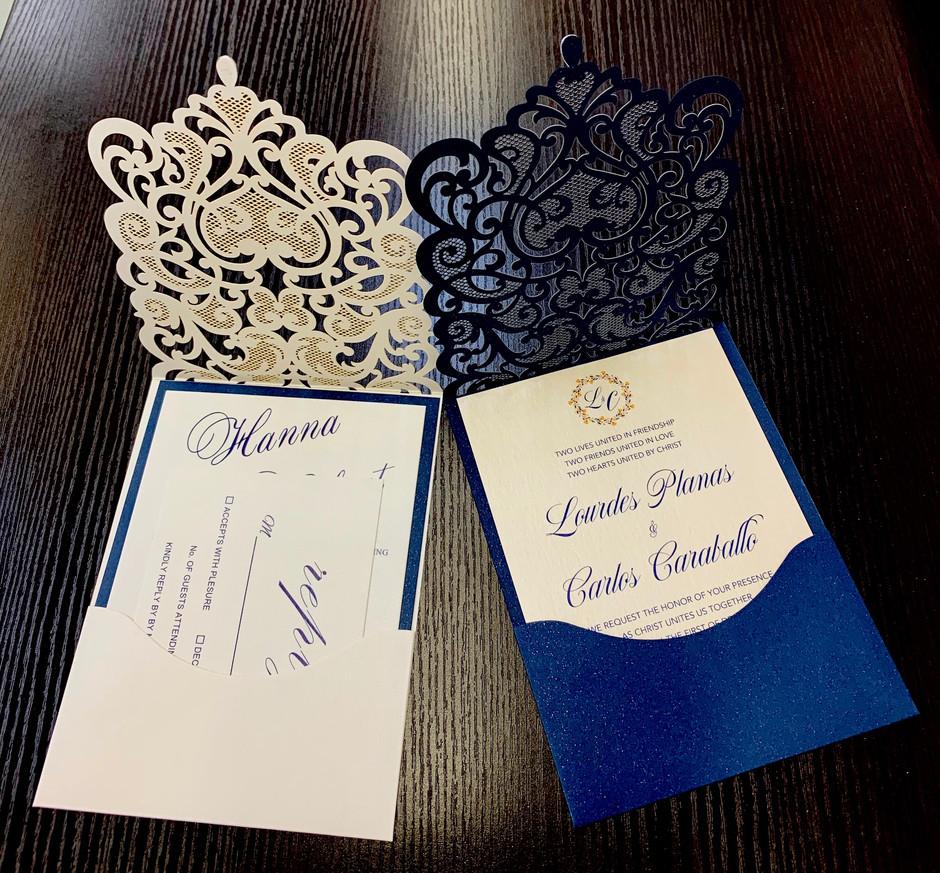 custom laser cut wedding invitations NY