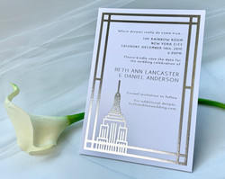 foil stamping invitations NYC