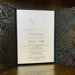 custom foil stamping invitations in NYC.