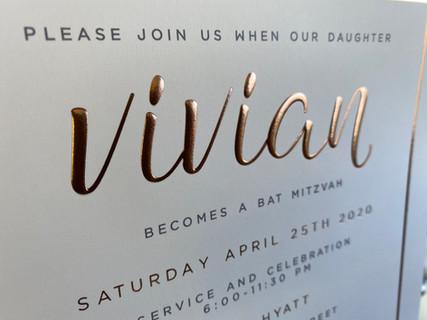 Elegant sweet 16 invitation in NYC