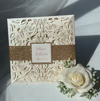 Laser cut wedding invitations NYC