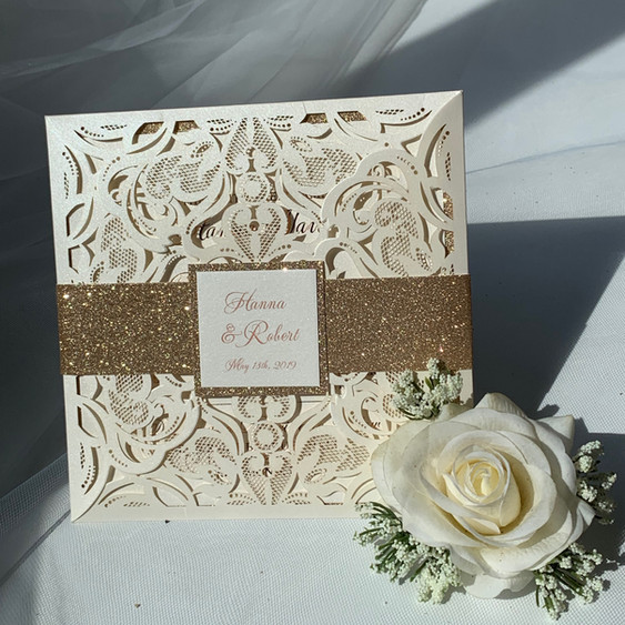 custom laser cut wedding invitations NYC