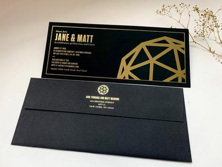 custom foil stamping wedding invitations NYC