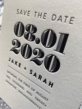 Artistic letterpess invitation in New York City