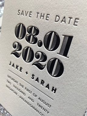 Artistic letterpess invitation in New York City