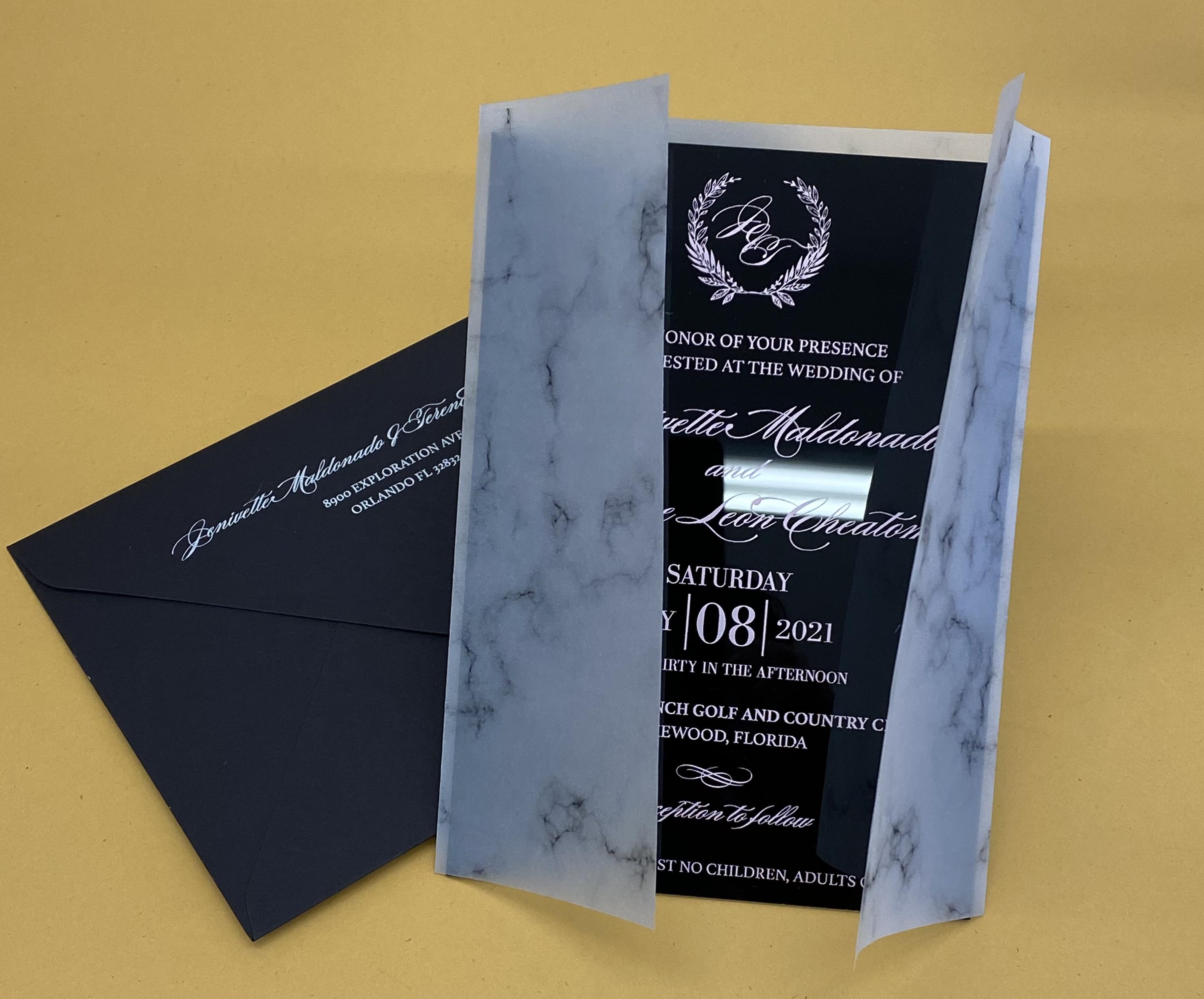 custom acrylic invitations NYC