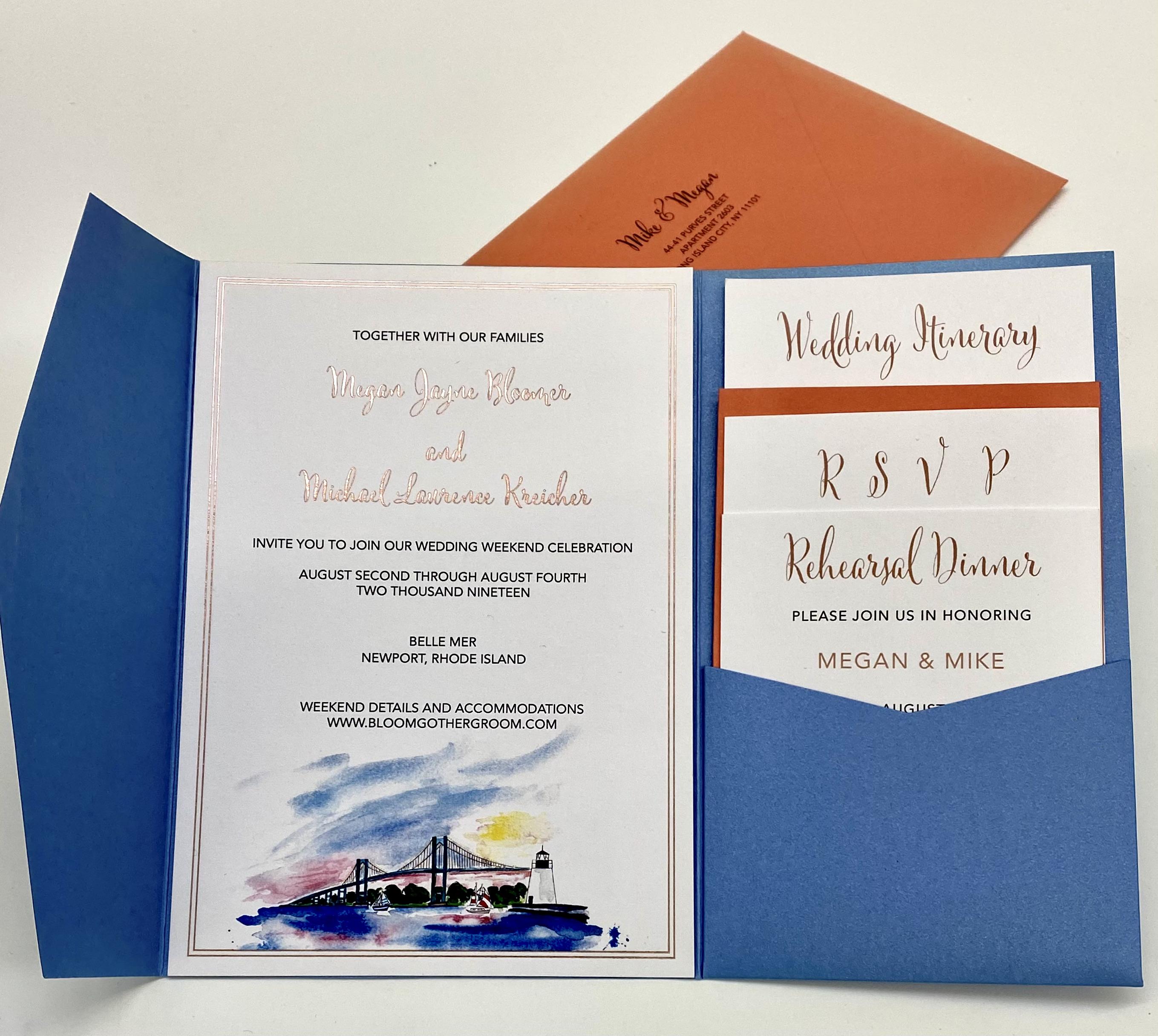 custom wedding invitations studio in NYC