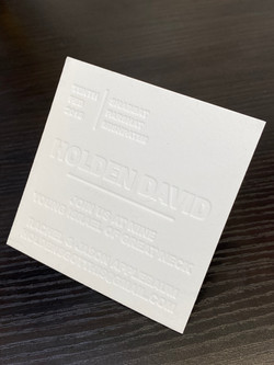 blind letterpress NYC