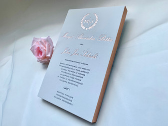 foil and gilgding wedding invitations in NYC