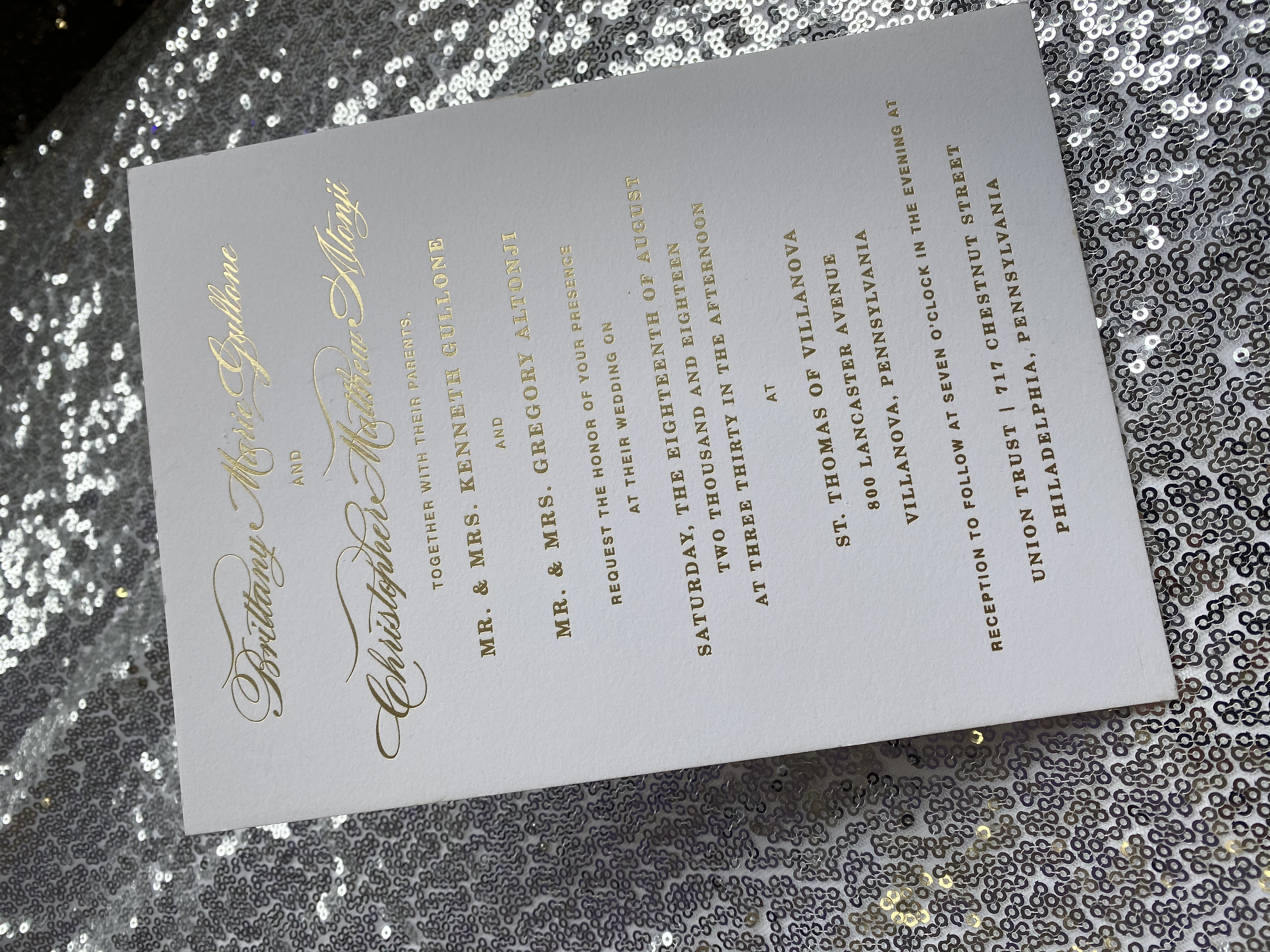 foil stamping invitations in NYC