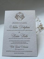 custom letterpress wedding invitations