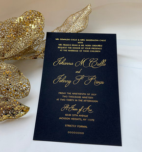gold foil stamping invitations