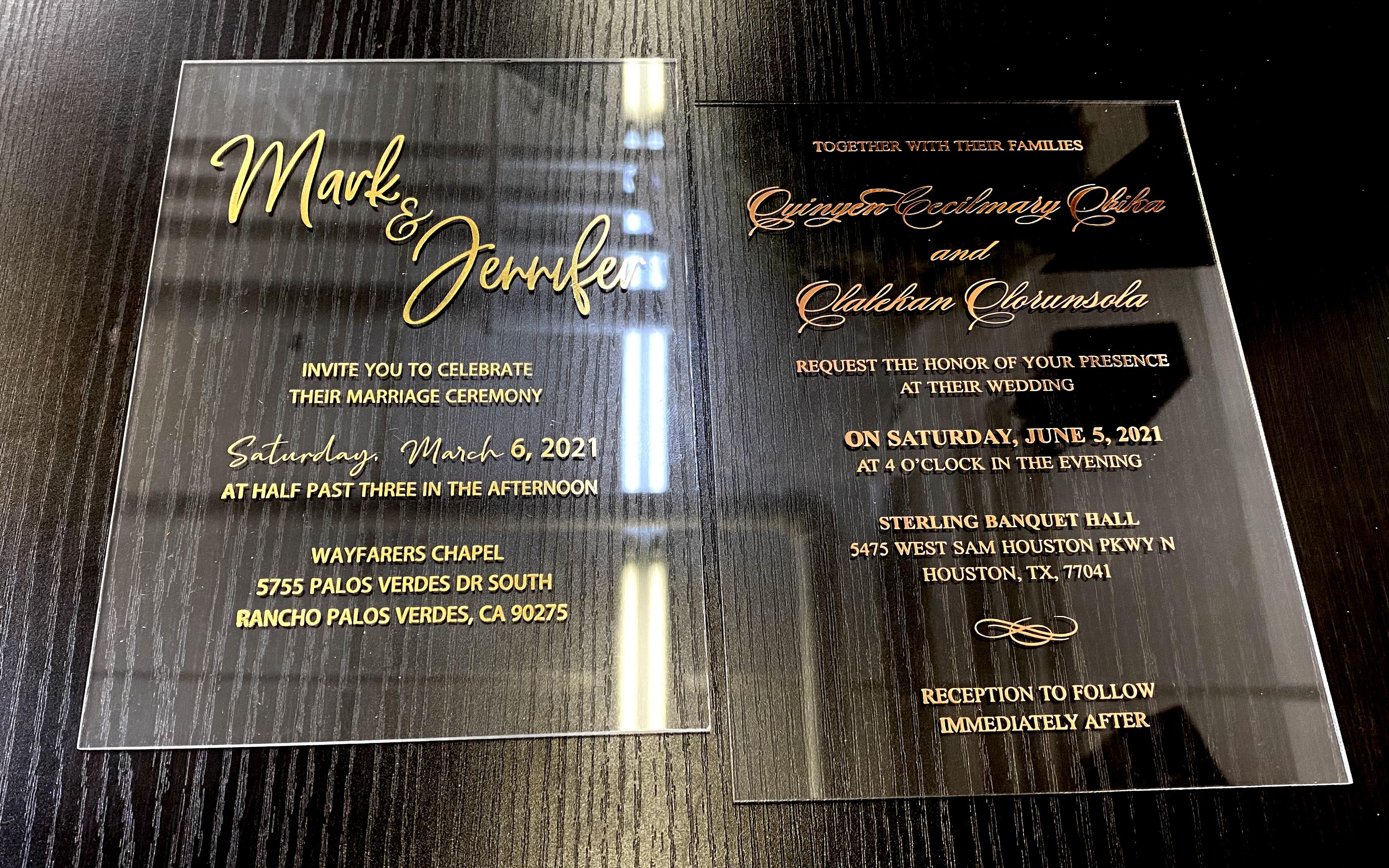 acrylic invitations nyc