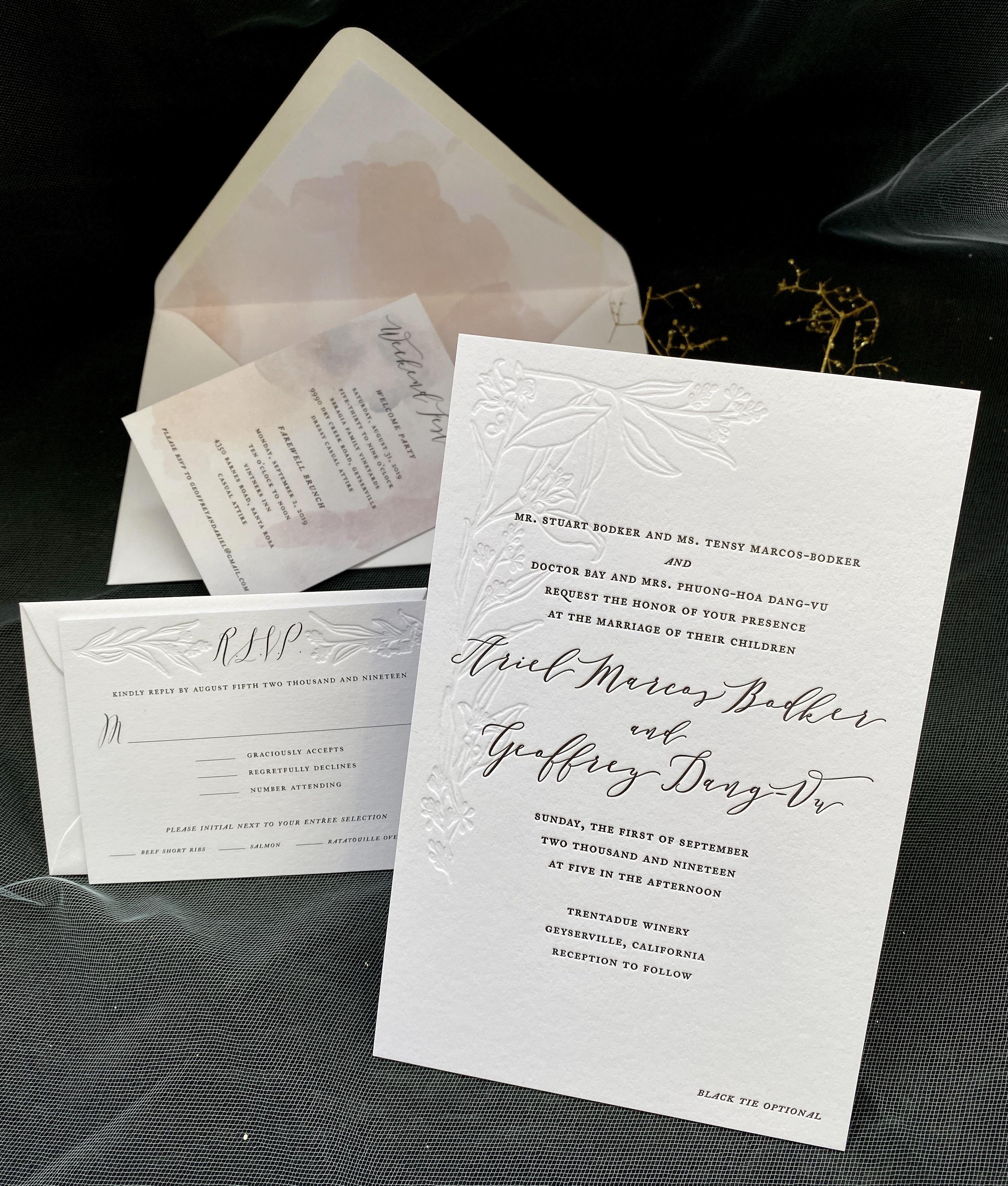 custom letterpress invitations in NYC