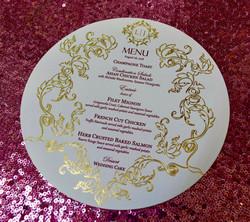 NYC foil stamping menus