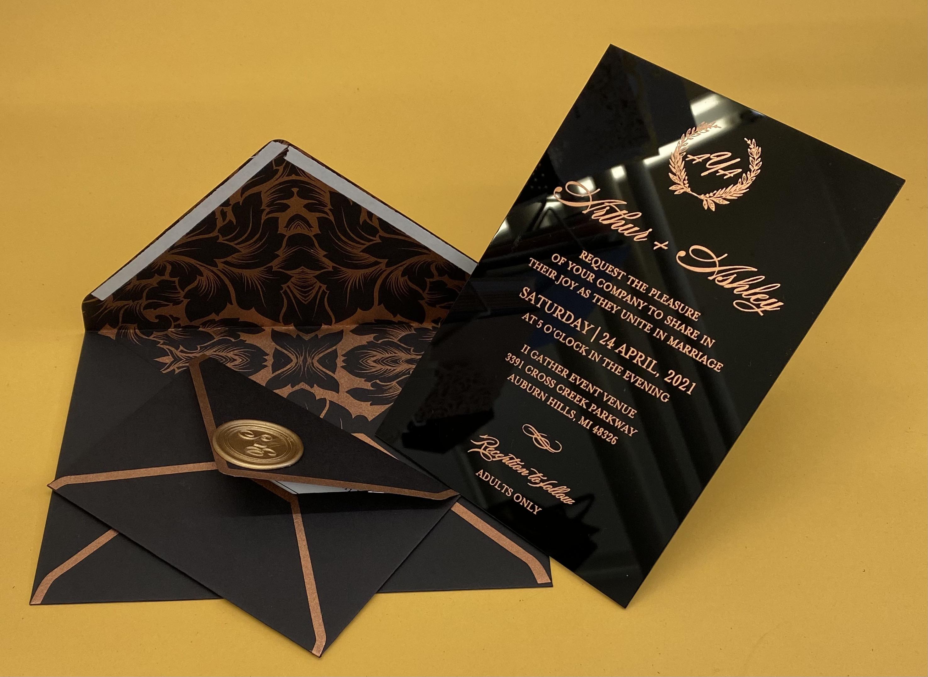 Acrylic invitations in NYC