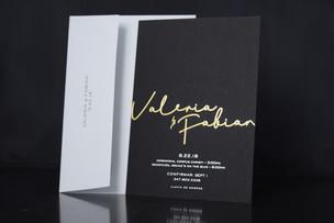 Elegant foil stamping invitation in NYC