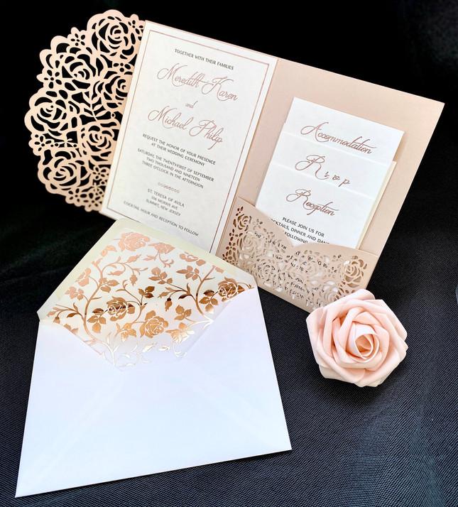 Laser cut invitations