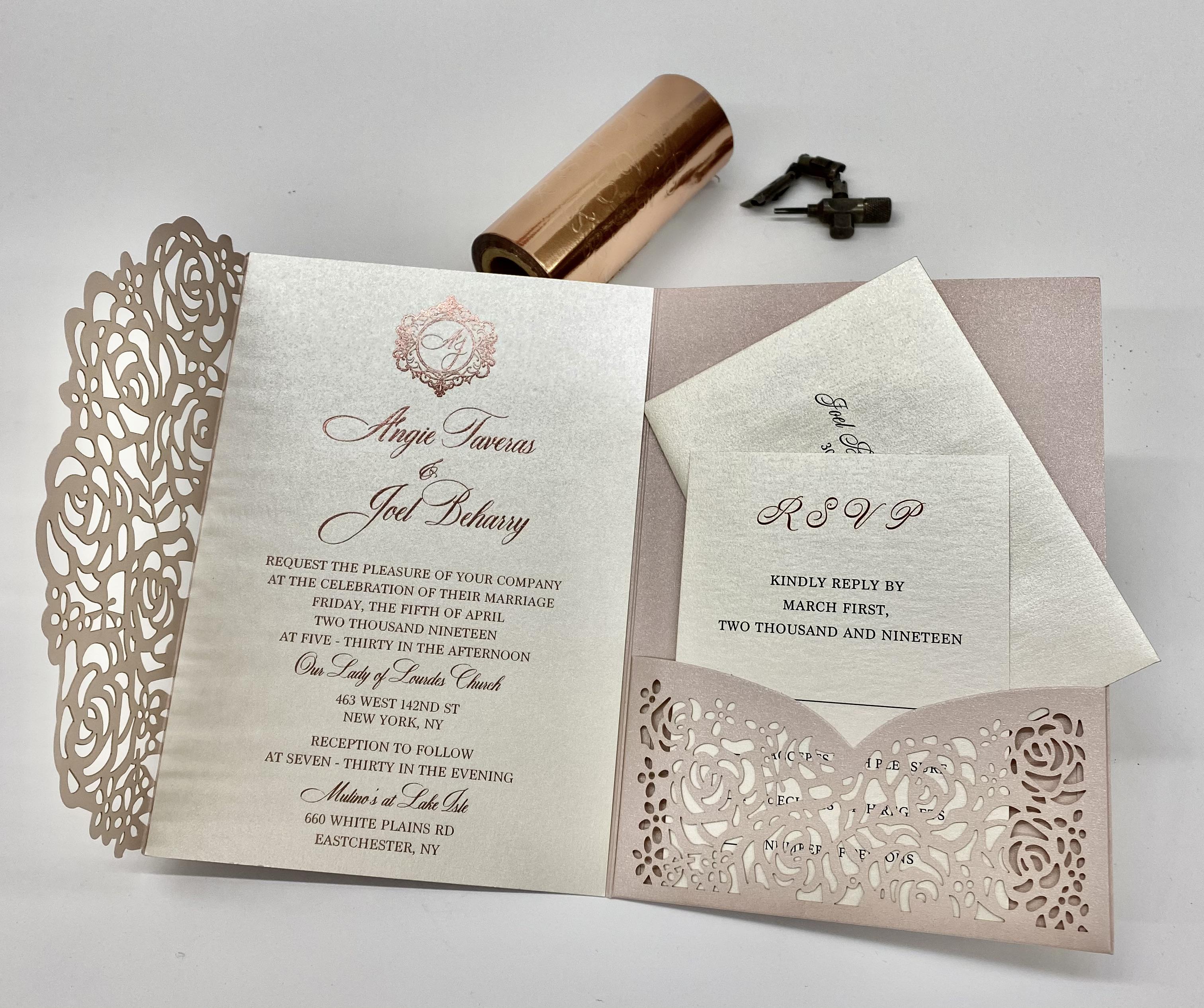 NYC custom invitations studio