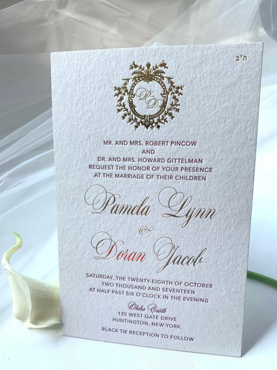 letterpress wedding invitations New York Queens