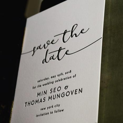 letterpress wedding invitations