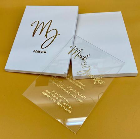 Custom acrylic invitations in NYC