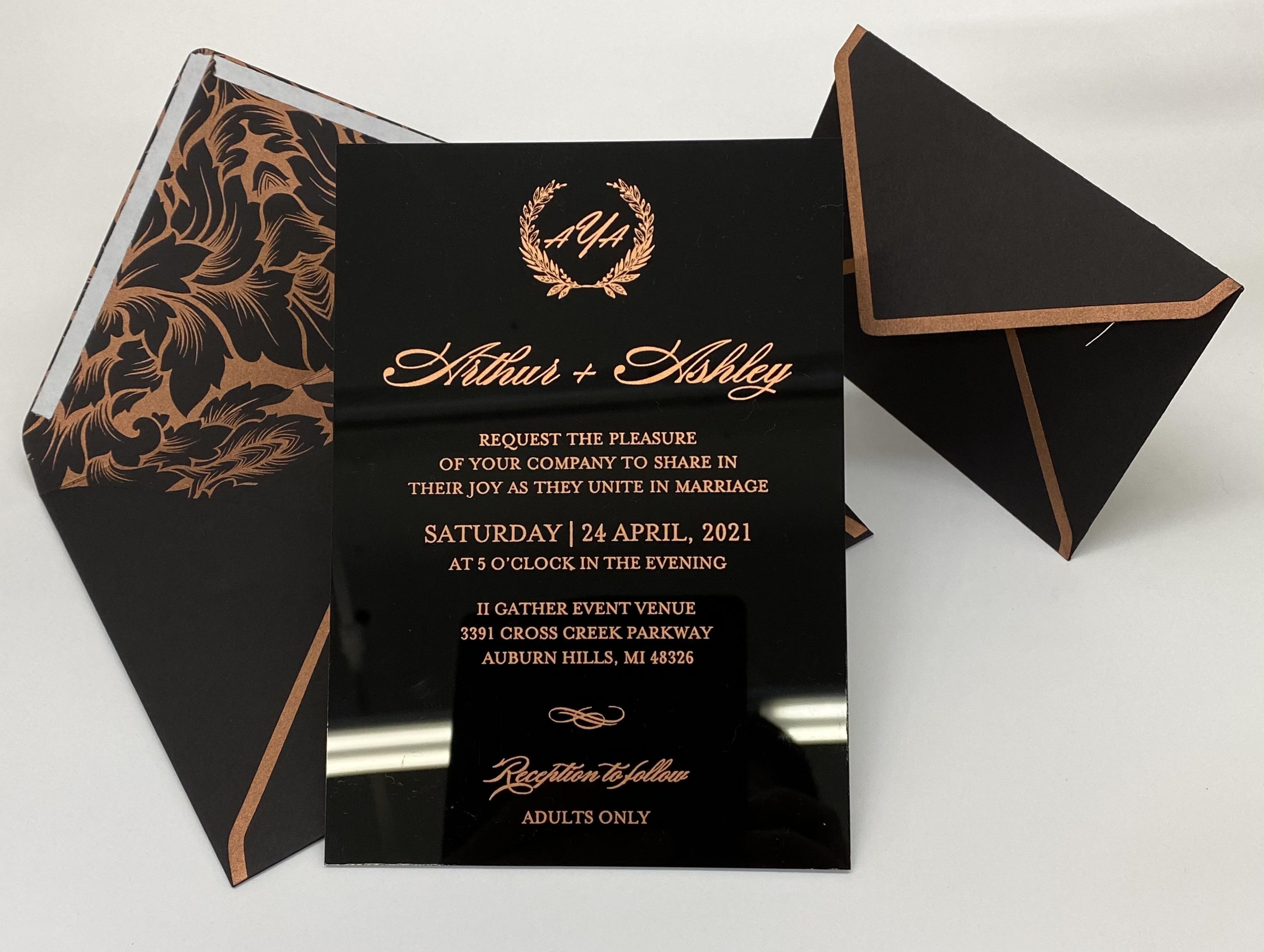 custom acrylic invitations NYC 5