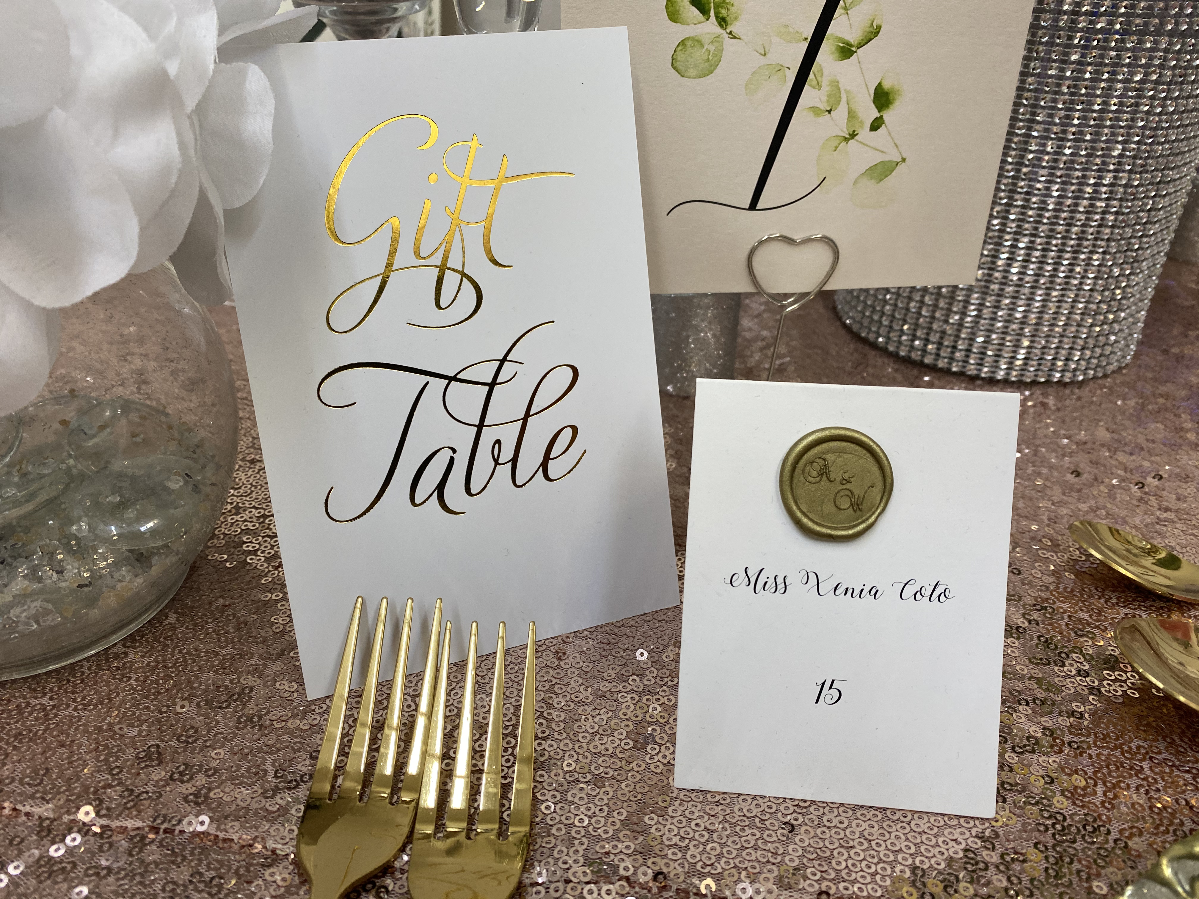 table number and escort cards